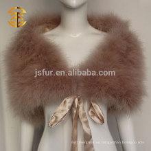 Venta al por mayor de las mujeres de Turquía verdadera pluma del cabo para el vestido de noche