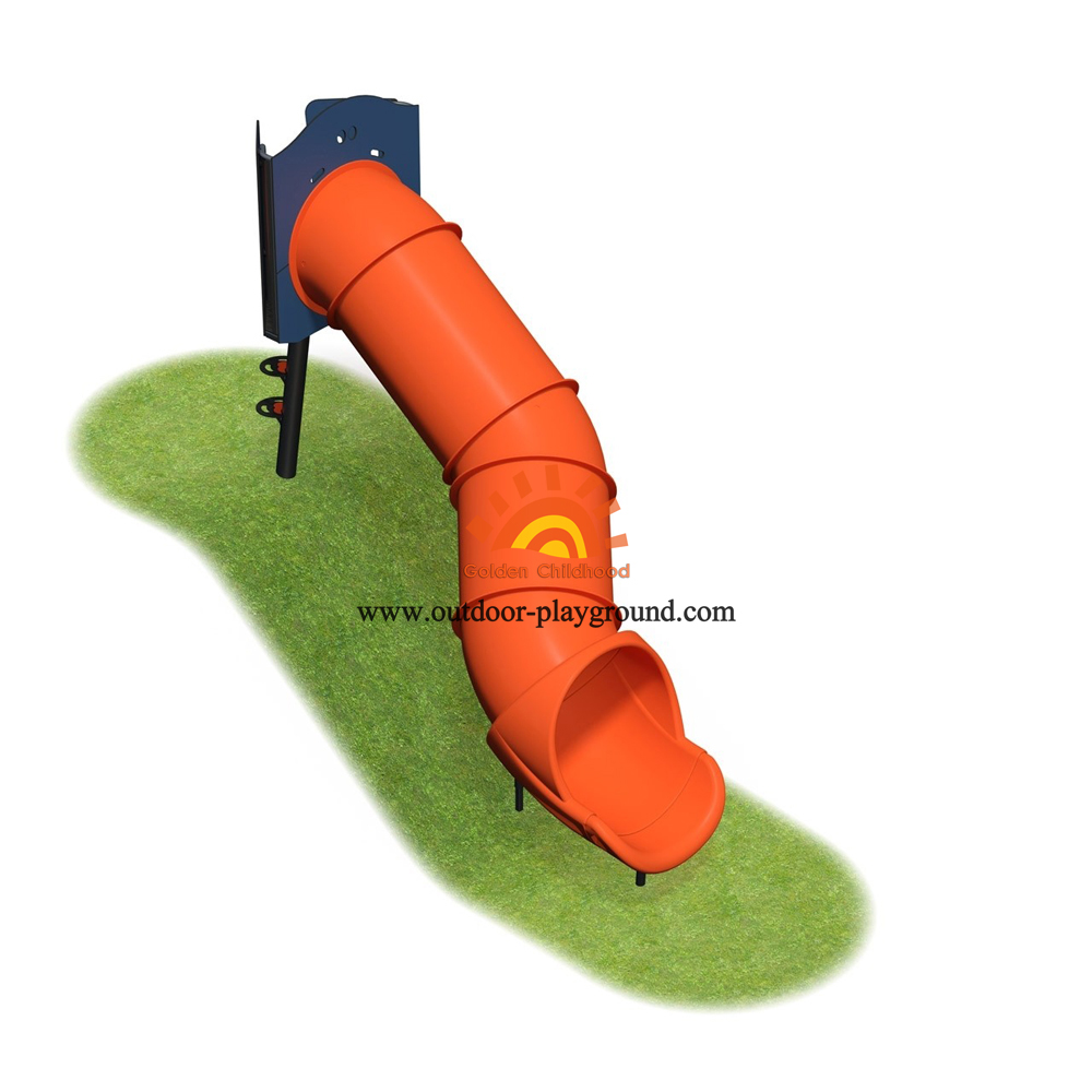 Outdoor Playground Tube Slide