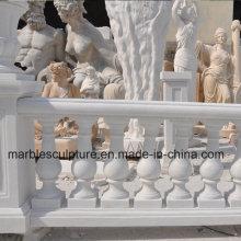 Balaustrada branca da escadaria da escultura de Carrara (SY-B002)