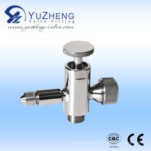 Válvula de amostragem de medidor de manómetro de líquido de aço inoxidável