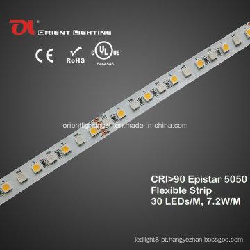 UL High CRI Epistar 5050 RGBW Faixa Flexível IP65, luz LED