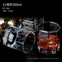 Coupe de verre à vin différente, tasse en verre pour boissons alcoolisées, eau sans poignée