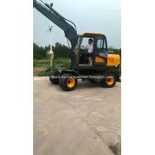Excavadora hidráulica del gancho agarrador de la rueda de China con la grapa giratoria