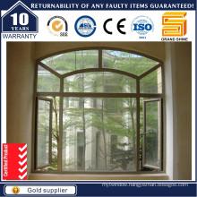 Aluminum Thermal Break Swing Aluminium Wire Netting Window with 1.4mm Thickness