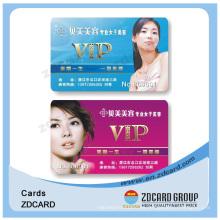 Tarjeta de identificación de membresía PVC plástico