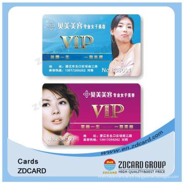 Carte d'identité d'adhésion de PVC en plastique