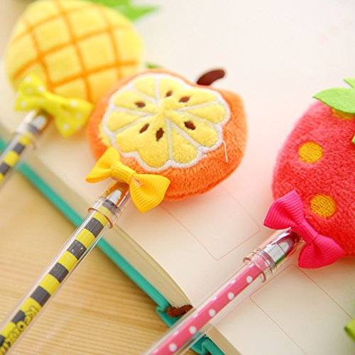 Plush Fruit Gel Pen 4