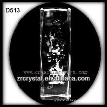 K9 Láser ciervos dentro de bloque de cristal