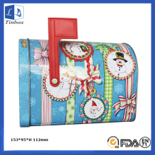 Printed Decorate Tin Box With Lock