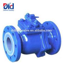 Wiki 2pc sanitária Dn50 Pn16 flangeou o encanamento de válvula Inline de borracha operado manual da bola