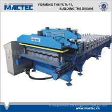 Auto double layer tile roof roll forming machine