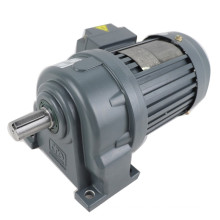 CH40-3700-10S 5hp 150rpm 215nm 40mm shaft Horizontal type 3phase 10:1 ratio 380V 3.7KW electric ac motor with gearbox reducer