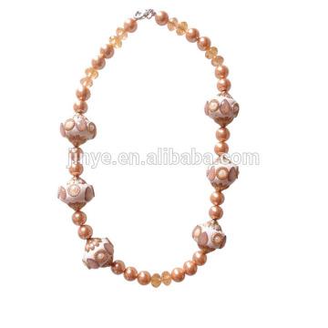 Мода Большой Жирный Коренастый Заявление Ожерелье Из Бисера