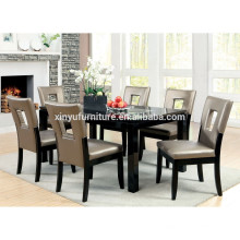 Modern design wooden dining table and chair set XYN1473