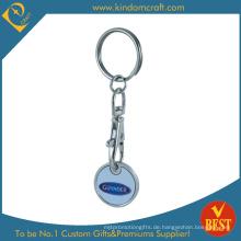 Benutzerdefinierte Ihr Logo Shopping Metall Trolley Coin
