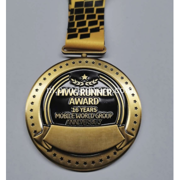 Custom Marathon Running Zinc Alloy 3D Gold Award