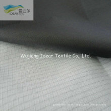 210T 0.3 * 0.3 capa blanca de tela del tafetán de Ripstop Nylon con PU