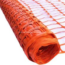 orange plastic safety warning barrier mesh