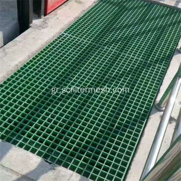 FRP Fiberglass Floor Grating Panel Stair Treads Τιμή