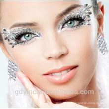Adaptez l'autocollant temporaire de tatouage d'oeil de l'art de visage, approvisionnement pour des échantillons libres