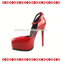 New design for spring large size wide feet high heel women shoes