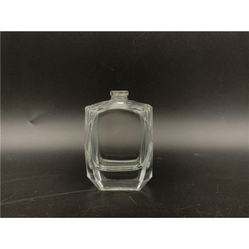 Flacon de parfum en verre transparent de 30 ml en vaporisateur en verre rectangle