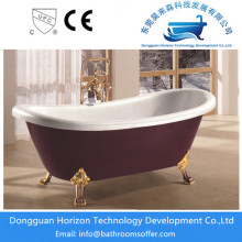 Claw foot deepred bathtub standing tubs