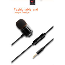 Fone de ouvido intra-auriculares 3.5mm plugue microfone com fio esporte