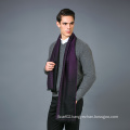 100% Men′s Wool Scarf in Solid Color Jacquare Wool Scarf