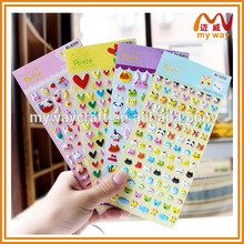 custom mini puffy stickers with different design, selling product in alibaba