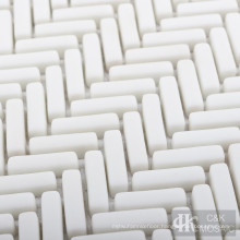Herringbone Glass Mosaic Tile for Bathroom