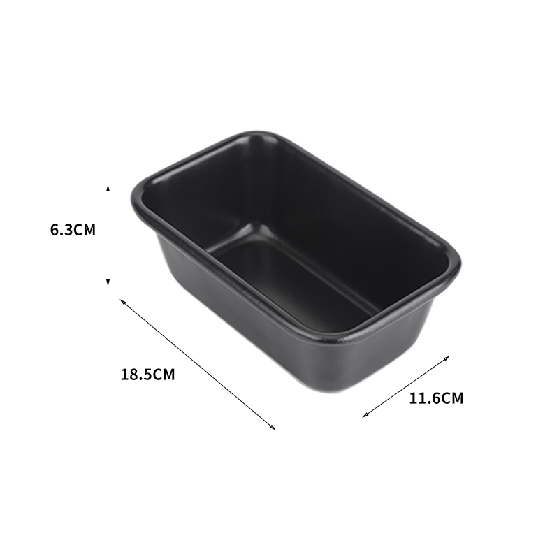 "7""carbon steel bread loaf pan-black05"