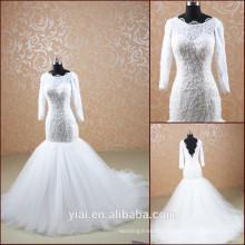 TT0505 new design 2014 long sleeves muslim bridal wedding dress