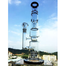 Cabeça de chuveiro e Birdcage Perc Vidro Water Pipe Hbking Tubo de água de vidro Hb-K18 Smoking Pipe Atacado