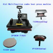 Multifunction Combo 4in1 Heat Transfer Machine Multifunction Combo Heat Press Machine 4 in 1 T-Shirt Heat Press Machine Stc-SD08