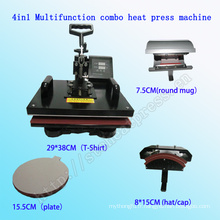 4 dans 1 machine multifonctionnelle de machine de presse de la chaleur d'impression de T-shirt d'impression approuvée Machine multifonctionnelle de transmission de la chaleur COMC-SD08 de machine approuvée par Combo