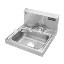 Из нержавеющей стали для мытья рук раковина с краном отверстия, заставка, установил НФС коммерческих мытья рук раковина для предприятий общественного питания