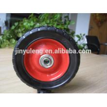 7 pulgadas ruedas de goma sólidas pequeñas para juguetes / cortacésped / carros