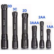 Serie Design Aluminiumlegierung Xpg R5 5W 3D, 2D, 3c, 2c, 3AAA, 2AA 1AA Leistungsstarke Taschenlampe (LM-00)