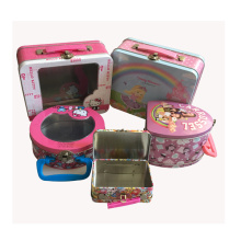 Handle Lunch Boîte d'emballage en étain Boîte alimentaire Pacakaging Box Custom Print