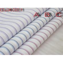 Violet/bleu/rouge 3 couleur résistante pli Polyester coton tissu pour chemises