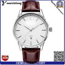 Conception Simple YXL-449 Japan Movt hommes montre Quartz Stainless Steel montres cuir luxe Business Man montre-bracelet
