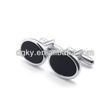 Men fashion stainless steel button cuff links