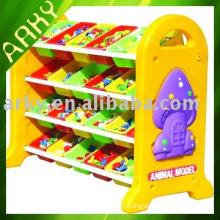 Plastic Toy - Cartoon Plastic Shelf For Kindergarten