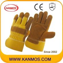 Промышленная безопасность Полные латные кожаные рабочие перчатки (110112)