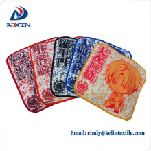 100% cotton printing 25*25cm hand towel