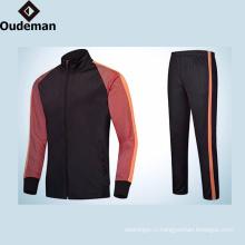 2017 последний design100% полиэстер темно-синий длинный рукав мужская Спортивная одежда Мужская простой спортивный костюм