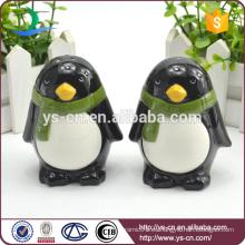 Navidad regalos de vacaciones Penguin cerámica sal y pimienta Shakers al por mayor