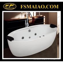 Classic Style Acrylic Freestanding Bathtub with 2 Headrests (9004)