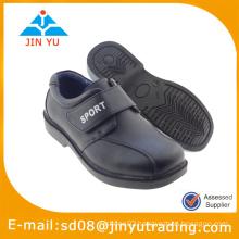 2015 school black kids leather shoes